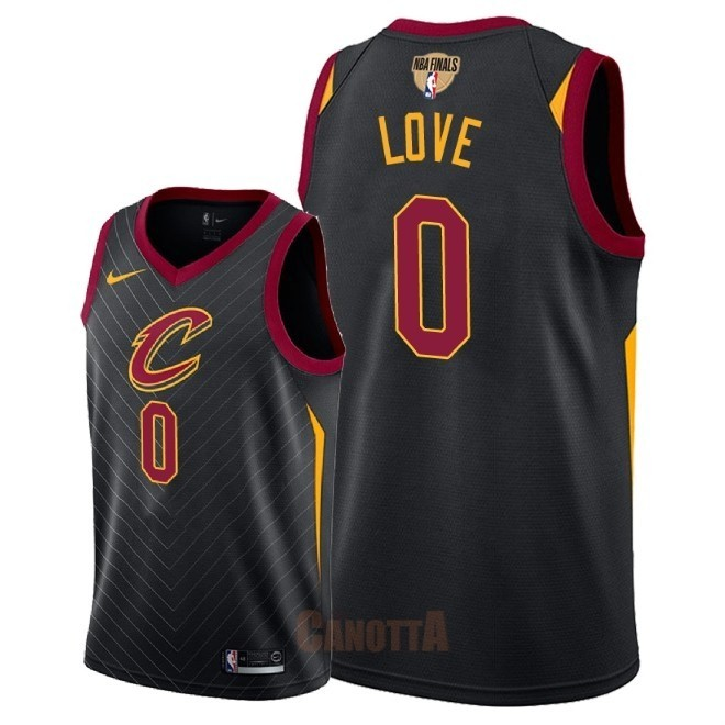 Replica Maglia NBA Cleveland Cavaliers 2018 Campionato Finali NO.0 Kevin Love Nero Statement Patch