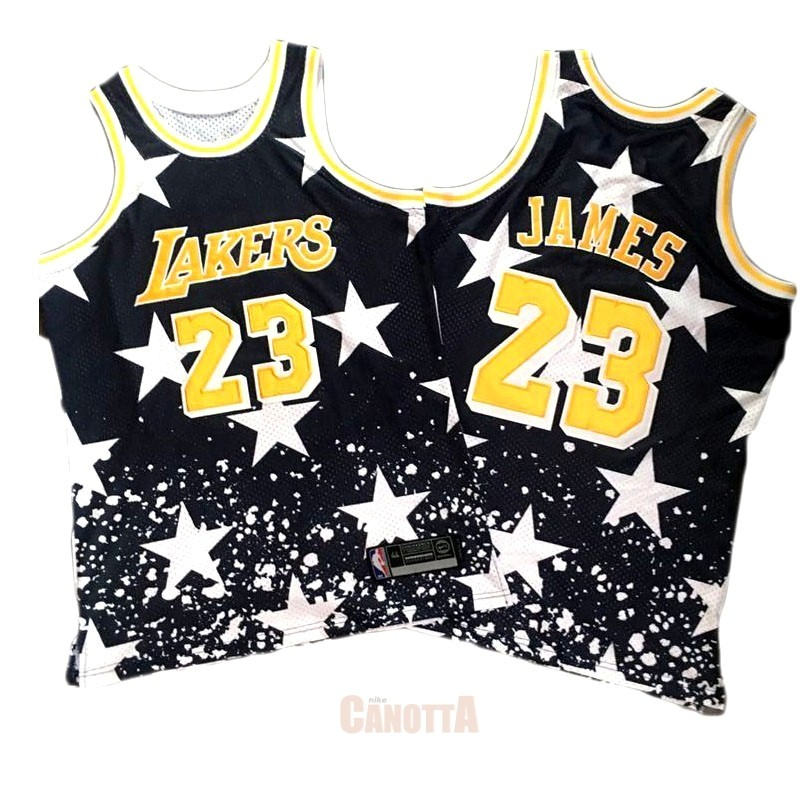 Replica Maglia NBA Cleveland Cavaliers NO.23 LeBron James Retro Nero AU