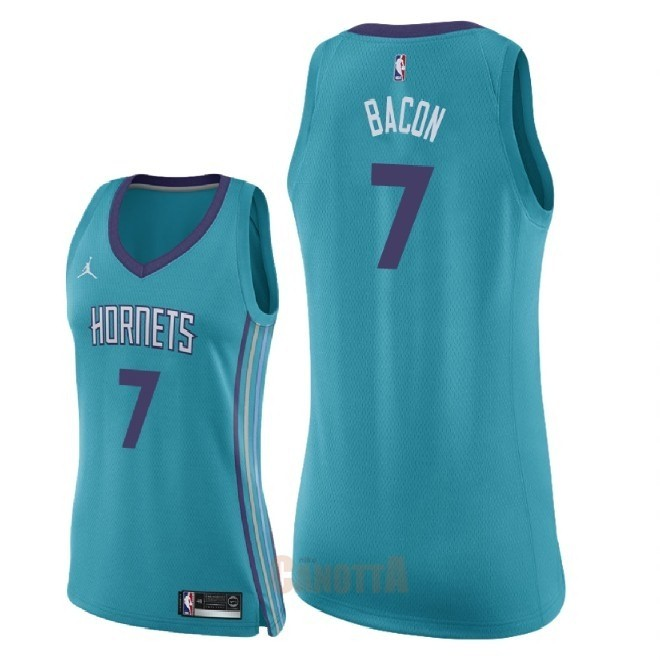 Replica Maglia NBA Donna Charlotte Hornets NO.7 Dwayne Bacon Verde Icon 2018