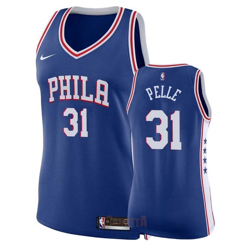 Replica Maglia NBA Donna Philadelphia Sixers NO.31 Norvel Pelle Blu Icon 2018