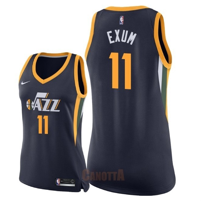 Replica Maglia NBA Donna Utah Jazz NO.11 Dante Exum Marino Icon 2018