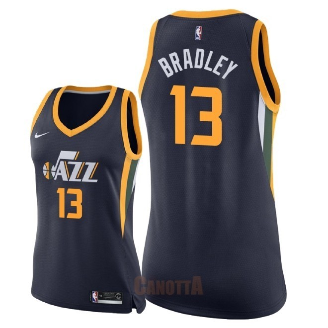 Replica Maglia NBA Donna Utah Jazz NO.13 Tony Bradley Marino Icon 2018