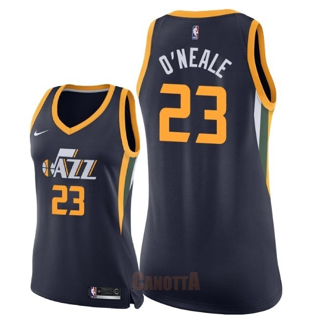 Replica Maglia NBA Donna Utah Jazz NO.23 Royce O'Neale Marino Icon 2018