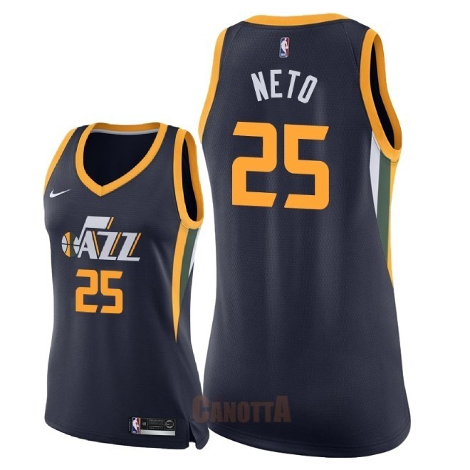 Replica Maglia NBA Donna Utah Jazz NO.25 Raul Neto Marino Icon 2018