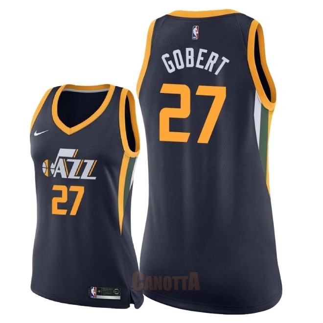 Replica Maglia NBA Donna Utah Jazz NO.27 Rudy Gobert Marino Icon 2018