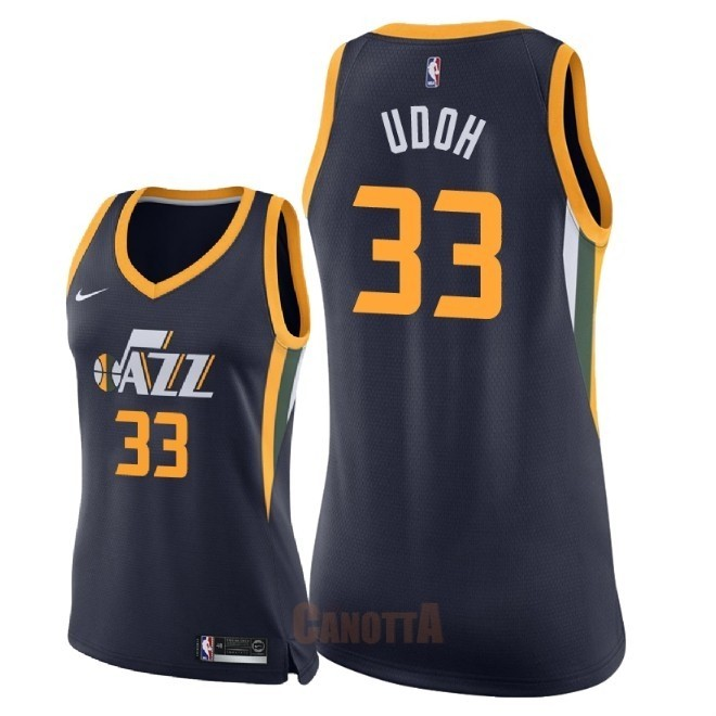 Replica Maglia NBA Donna Utah Jazz NO.33 Ekpe Udoh Marino Icon 2018
