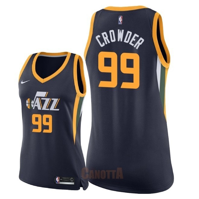 Replica Maglia NBA Donna Utah Jazz NO.99 Jae Crowder Marino Icon 2018