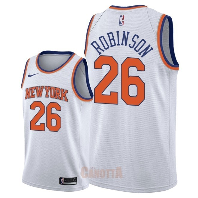 Replica Maglia NBA Nike New York Knicks NO.26 Mitchell Robinson Bianco Association 2018