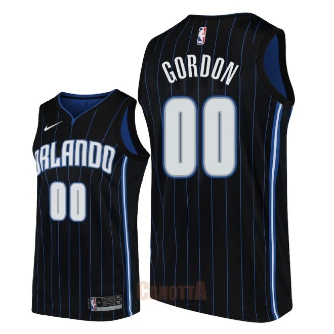 Replica Maglia NBA Nike Orlando Magic NO.0 Aaron Gordon Nero Statement 2018