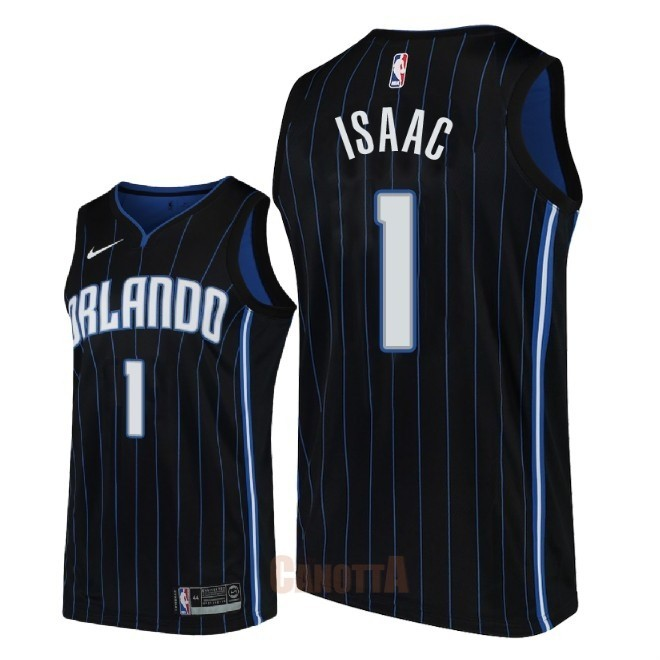 Replica Maglia NBA Nike Orlando Magic NO.1 Jonathan Isaac Nero Statement 2018