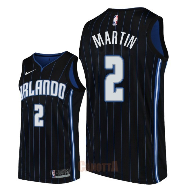 Replica Maglia NBA Nike Orlando Magic NO.2 Jarell Martin Nero Statement 2018-19