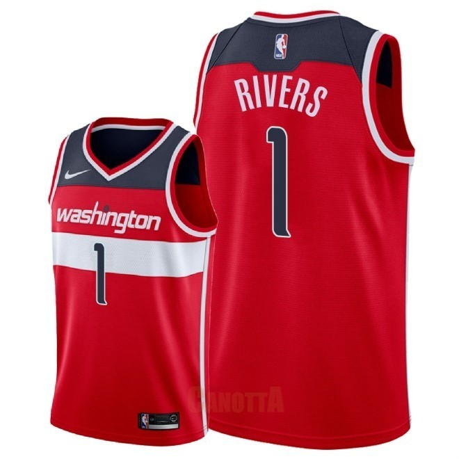 Replica Maglia NBA Nike Washington Wizards NO.1 Austin Rivers Rosso Icon 2018