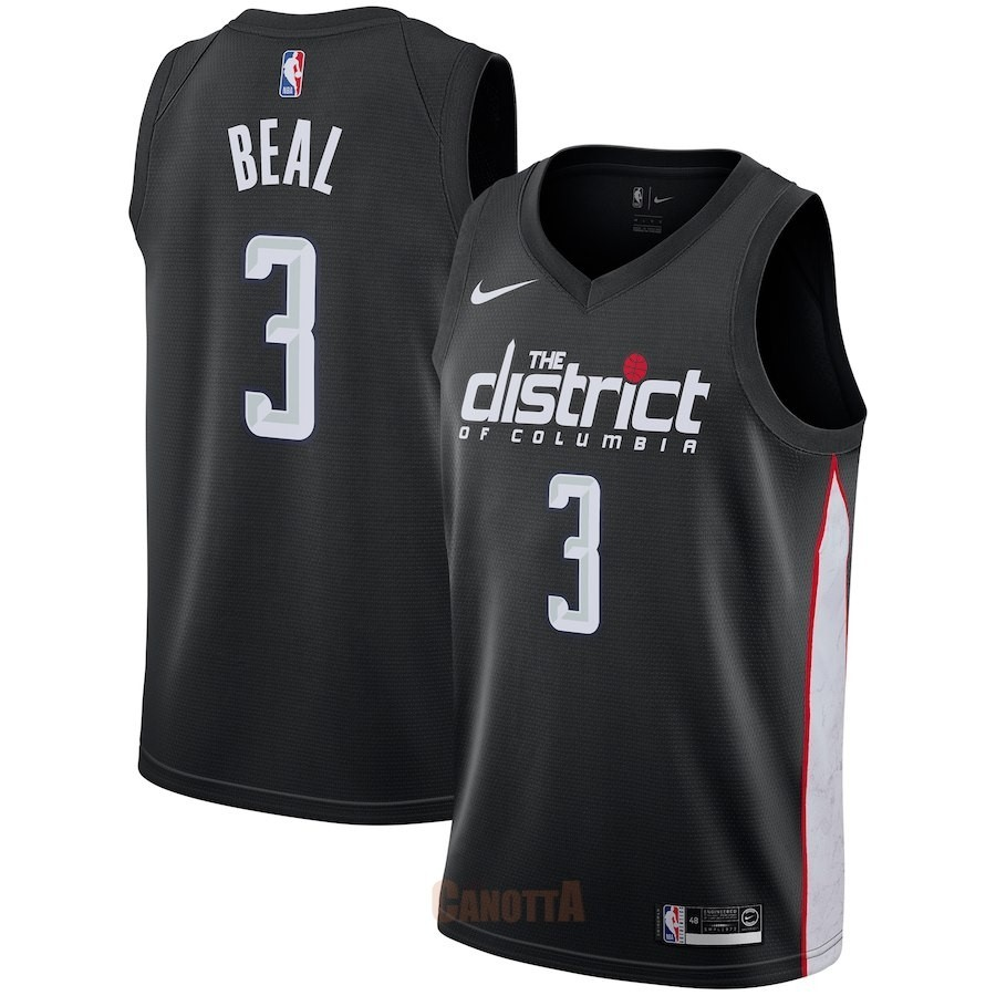 Replica Maglia NBA Nike Washington Wizards NO.3 Bradley Beal Nike Nero Città 2018-19