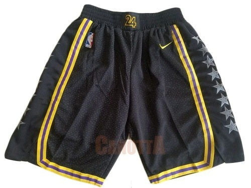 Replica Pantaloni Basket Los Angeles Lakers Nike Nero 2018