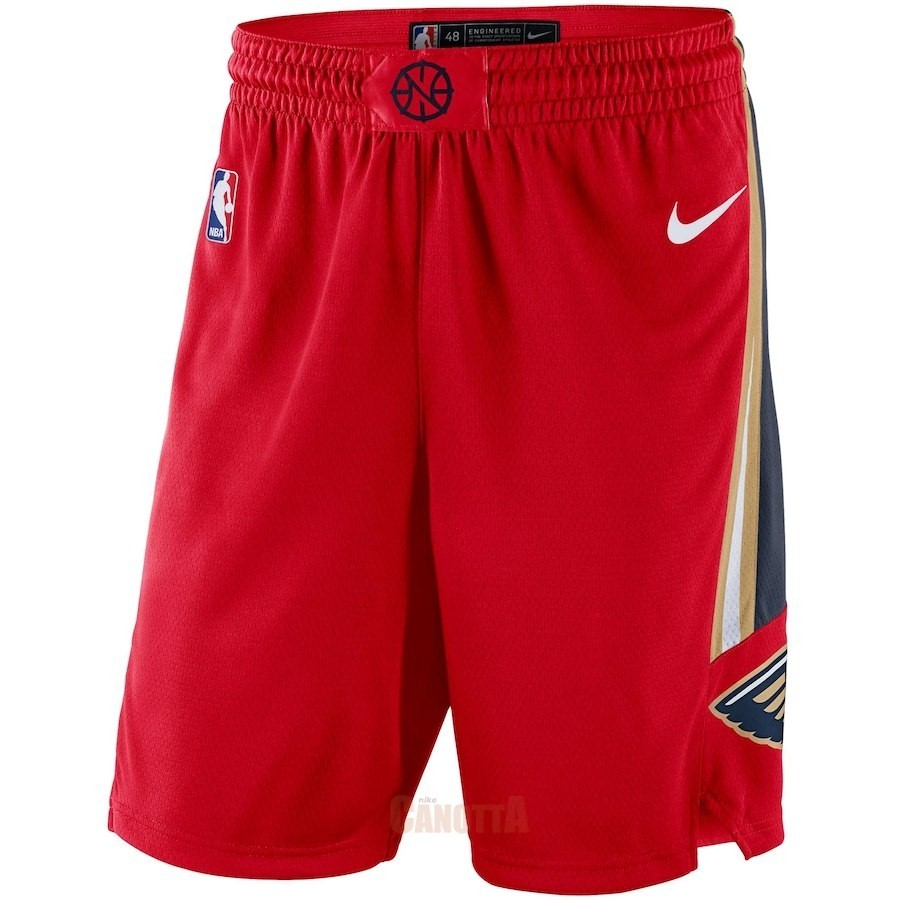 Replica Pantaloni Basket New Orleans Pelicans Nike Rosso Statement 2018