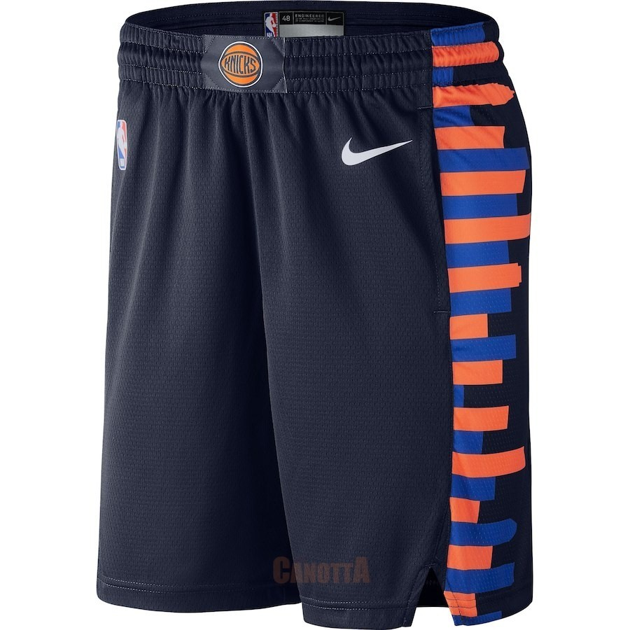 Replica Pantaloni Basket New York Knicks Nike Marino Città 2018-19