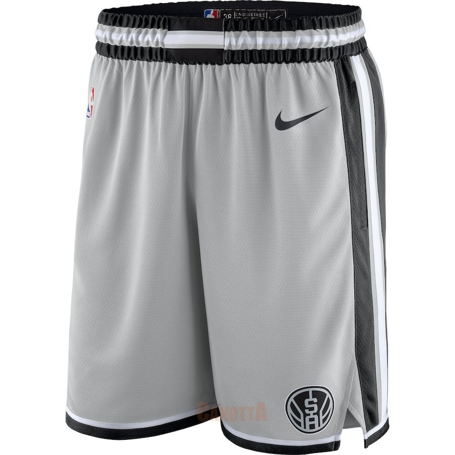 Replica Pantaloni Basket San Antonio Spurs Nike Grigio Statement 2018