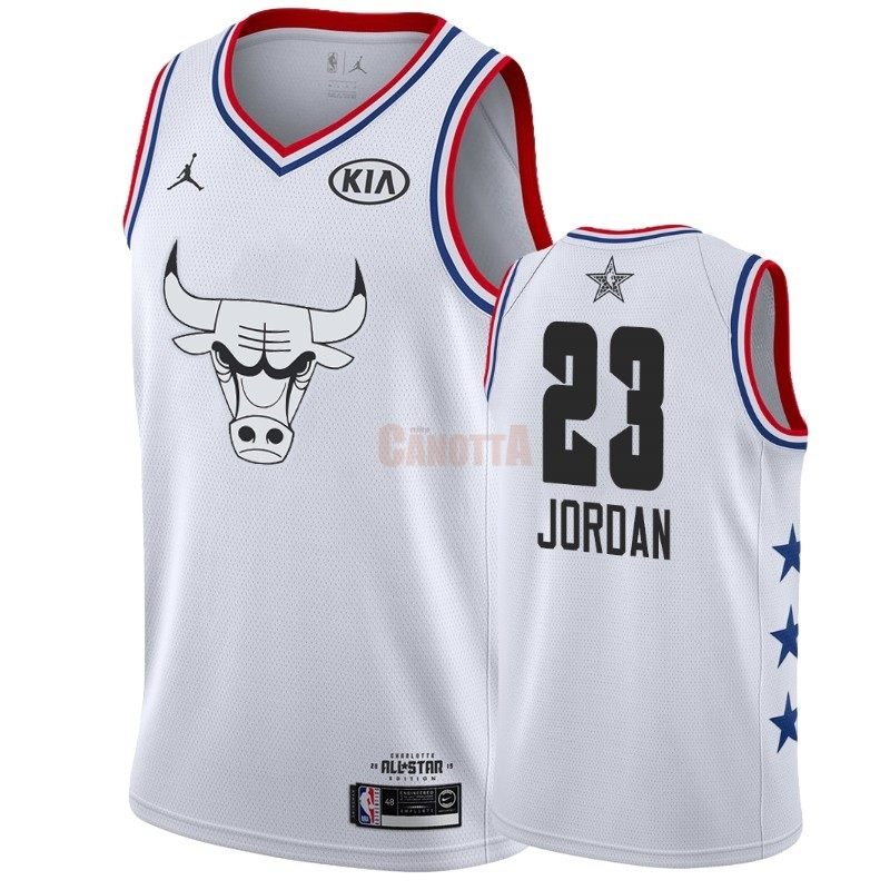 Replica Maglia NBA 2019 All Star NO.23 Michael Jordan Bianco