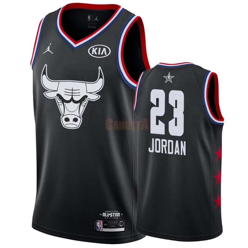 Replica Maglia NBA 2019 All Star NO.23 Michael Jordan Nero