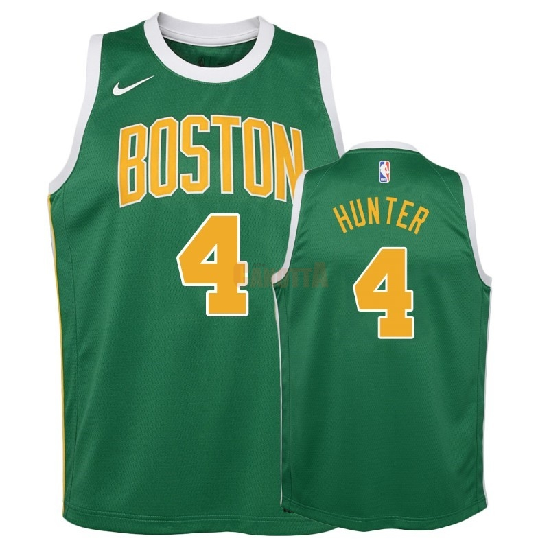 Replica Maglia NBA Bambino Earned Edition Boston Celtics NO.4 R.J. Hunter Verde 2018-19
