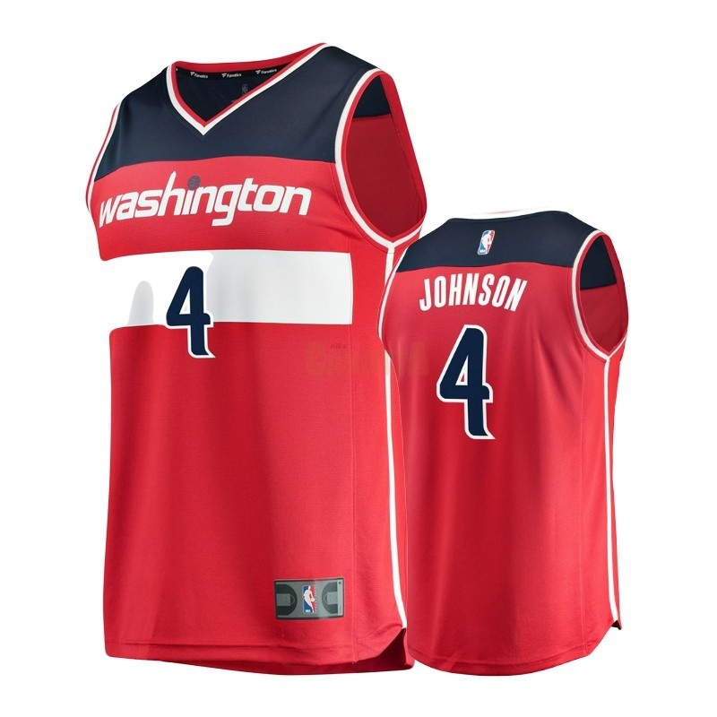 Replica Maglia NBA Bambino Washington Wizards NO.4 Wesley Johnson Rosso Icon