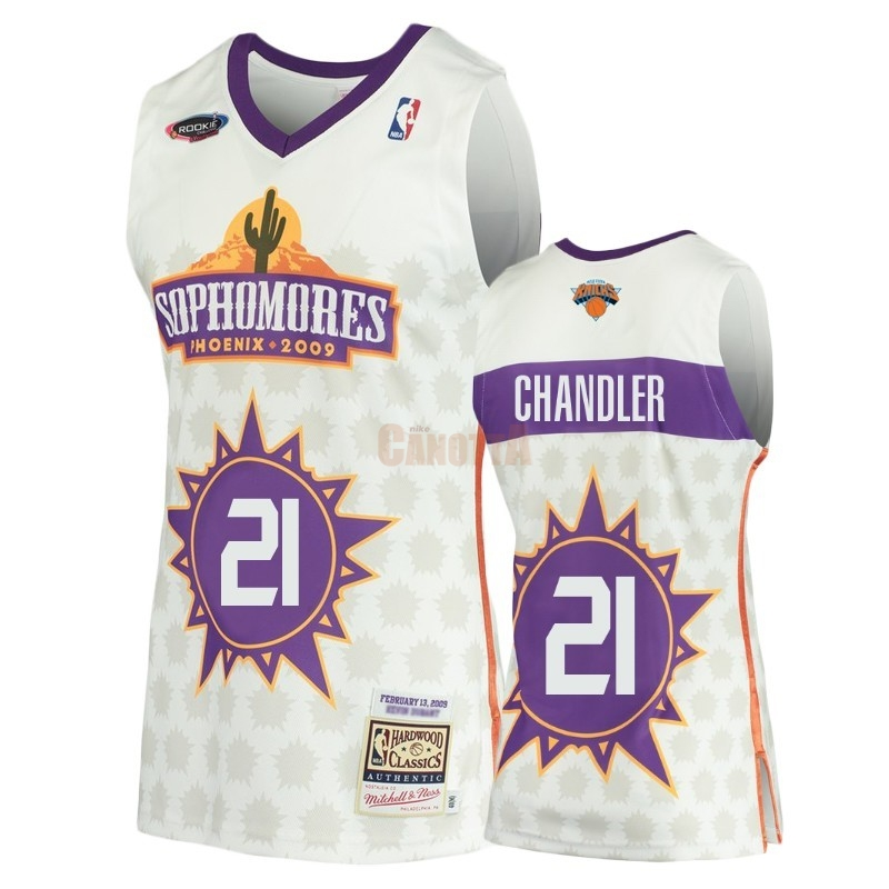 Replica Maglia NBA New York Knicks NO.21 Wilson Chandler Bianco Hardwood Classics 2009