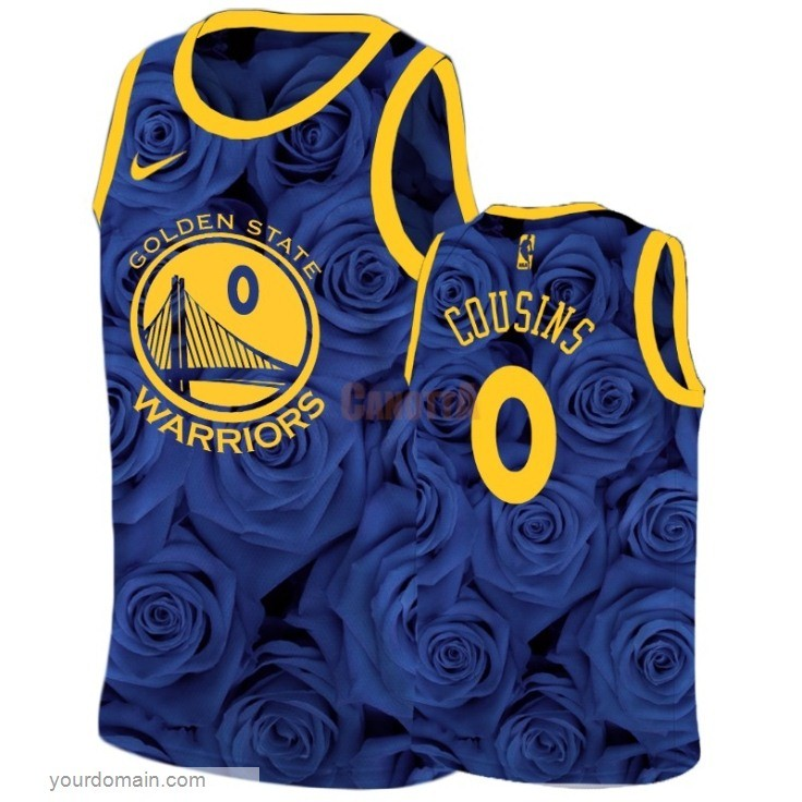 Replica Maglia NBA Nike Golden State Warriors NO.0 DeMarcus Cousins Marino