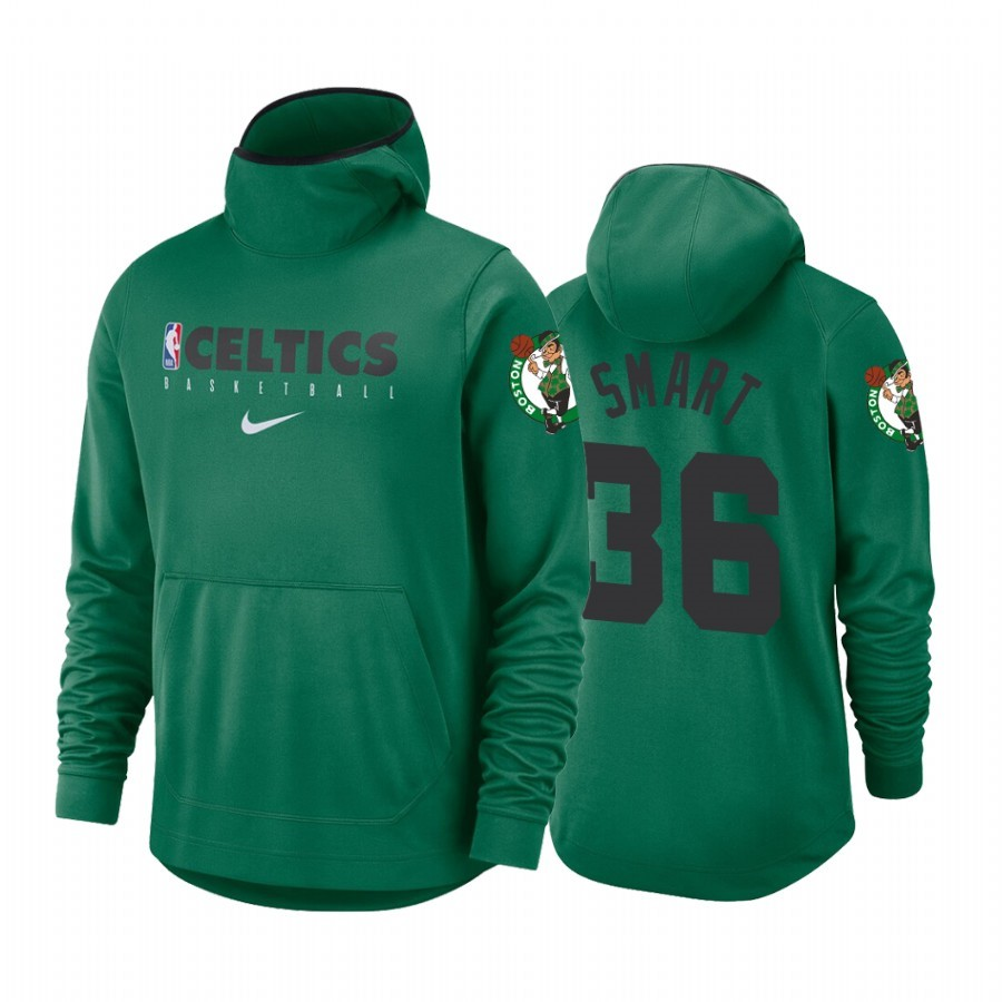 Replica Felpe Con Cappuccio Boston Celtics NO.36 Marcus Smart Verde