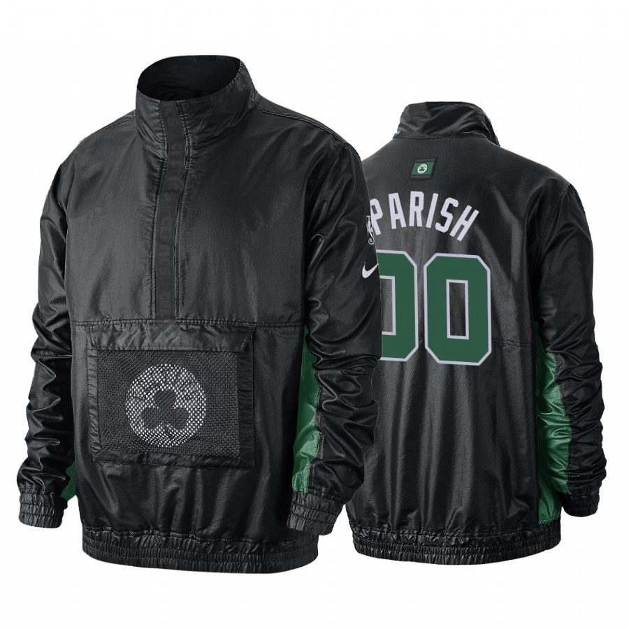 Replica Giacca NBA Boston Celtics NO.00 Robert Parish Nero
