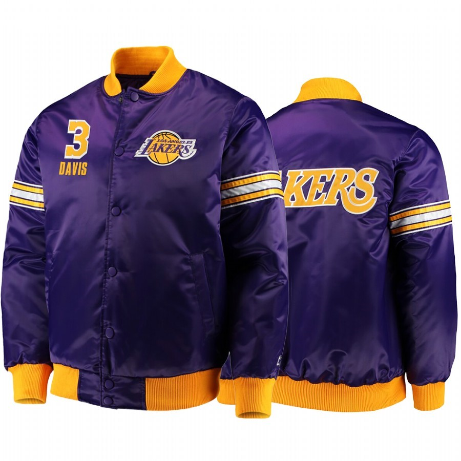 Replica Giacca NBA Los Rockets Angeles Lakers NO.3 Anthony Davis Pourpre