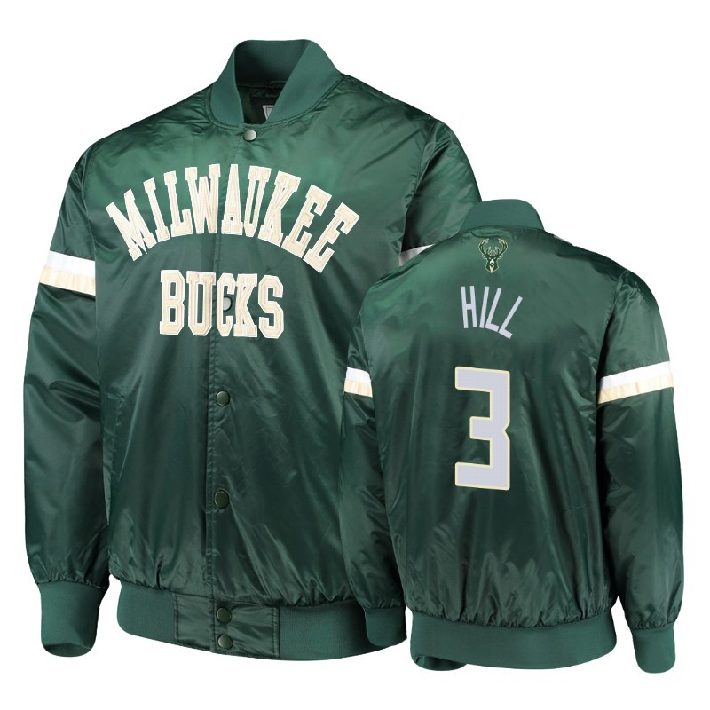 Replica Giacca NBA Milwaukee Bucks NO.3 George Hill Verde