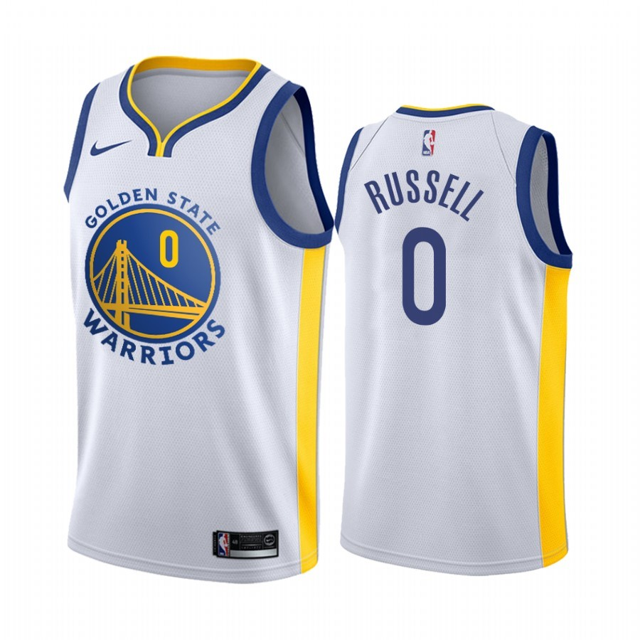Replica Maglia NBA Nike Golden State Warriors NO.0 D'Angelo Russell Bianco Association