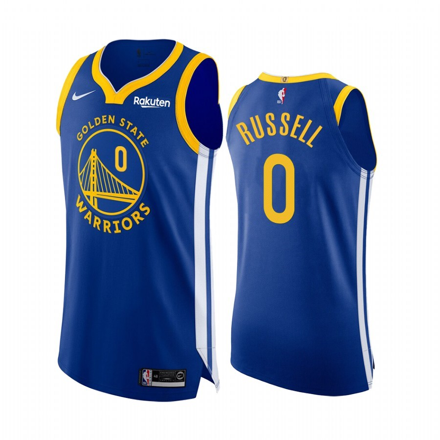 Replica Maglia NBA Nike Golden State Warriors NO.0 D'Angelo Russell Blu Icon Edition