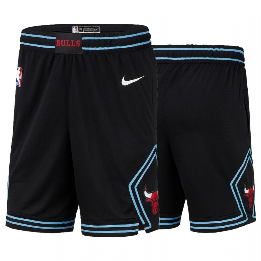 Replica Pantaloni Basket Chicago Bulls Nike Nero