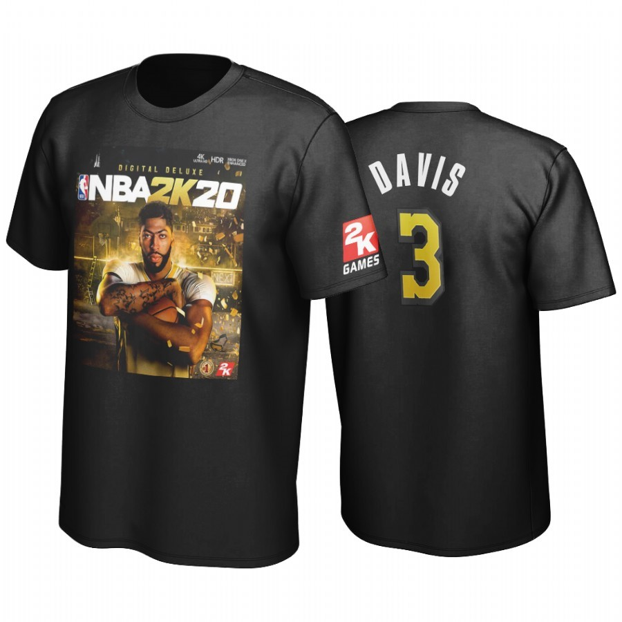 Replica T-Shirt Golden State Los Angeles Lakers Anthony Davis Nero