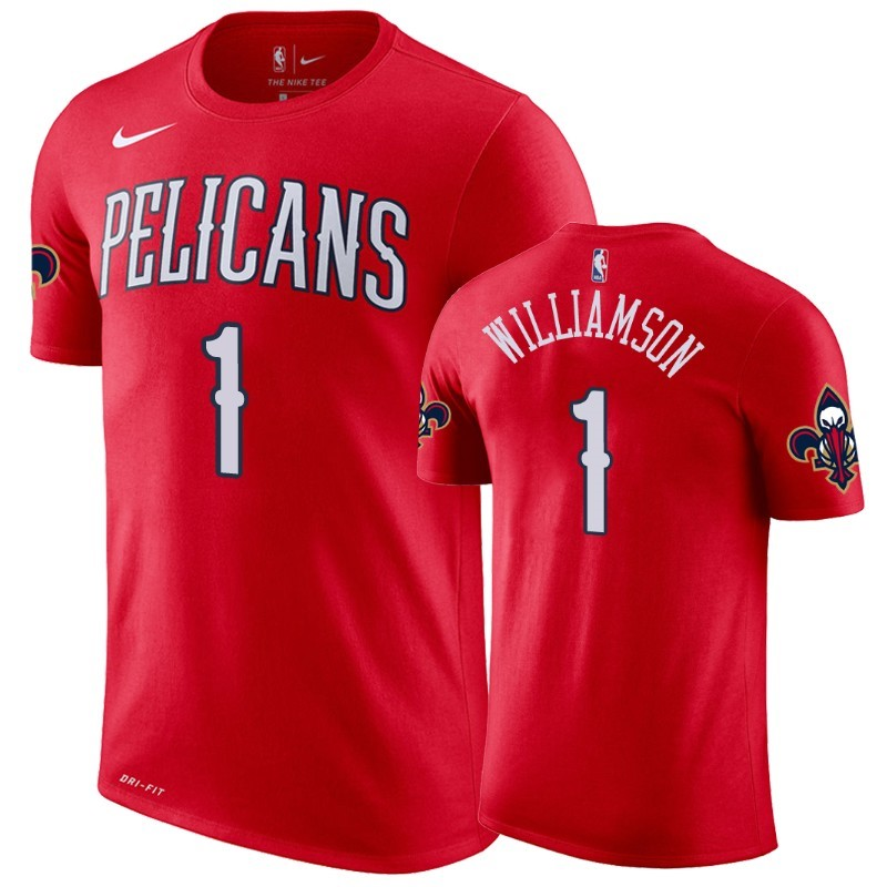 Replica T-Shirt New Orleans Pelicans Zion Williamson Rosso Statement