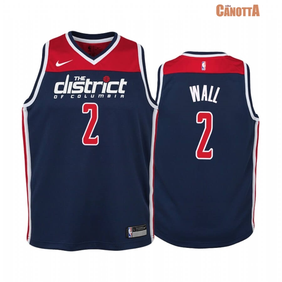 Replica Maglia NBA Bambino Washington Wizards NO.2 John Wall Marino Statement 2019-20