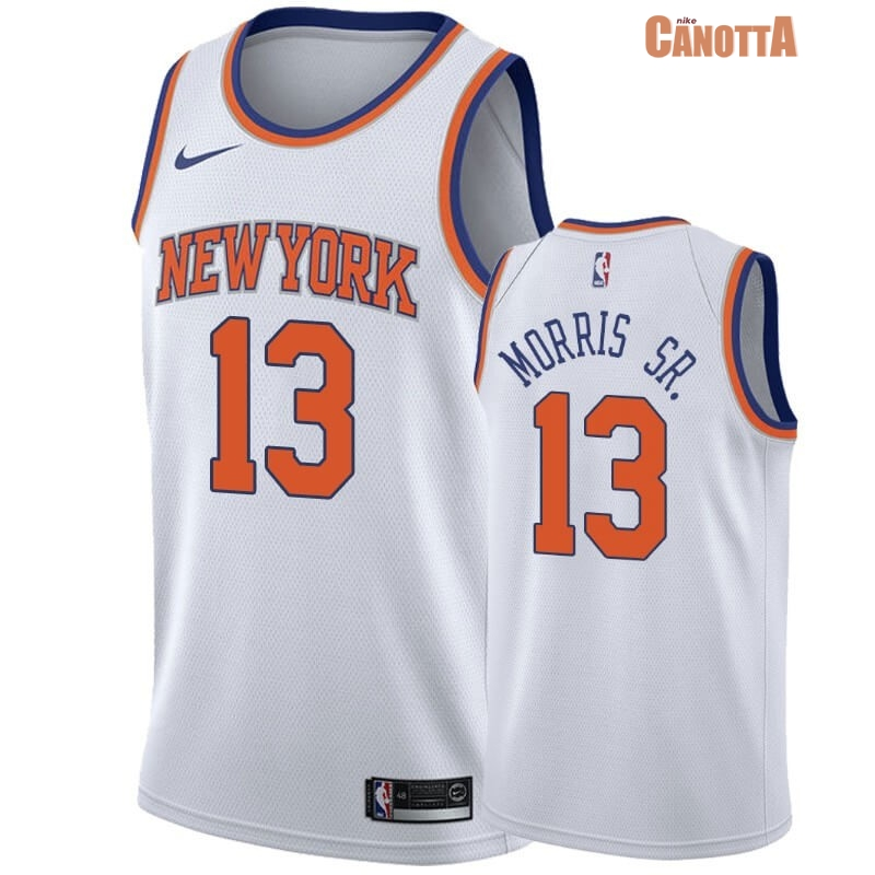Replica Maglia NBA Nike New York Knicks NO.13 Marcus Morris Sr Bianco Association 2019-20