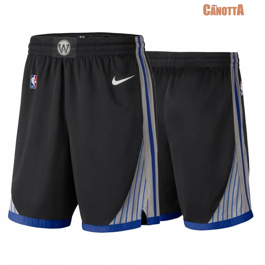 Replica Pantaloni Basket Golden State Warriors Nike Nero Città 2019-20