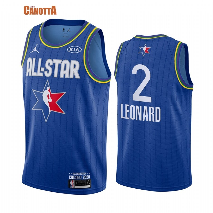 Replica Maglia NBA 2020 All Star NO.2 Kawhi Leonard Blu