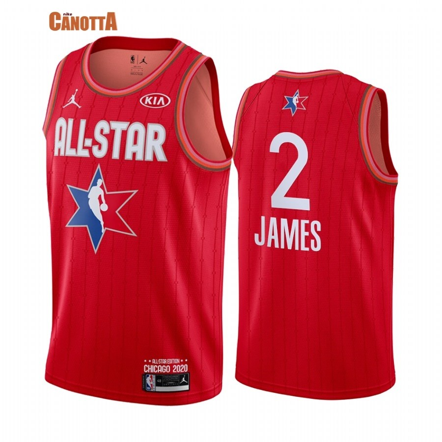 Replica Maglia NBA 2020 All Star NO.2 Lebron James Rosso