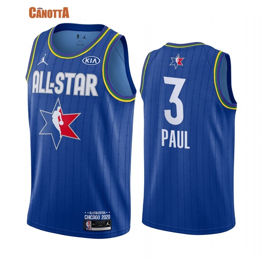 Replica Maglia NBA 2020 All Star NO.3 Chris Paul Blu