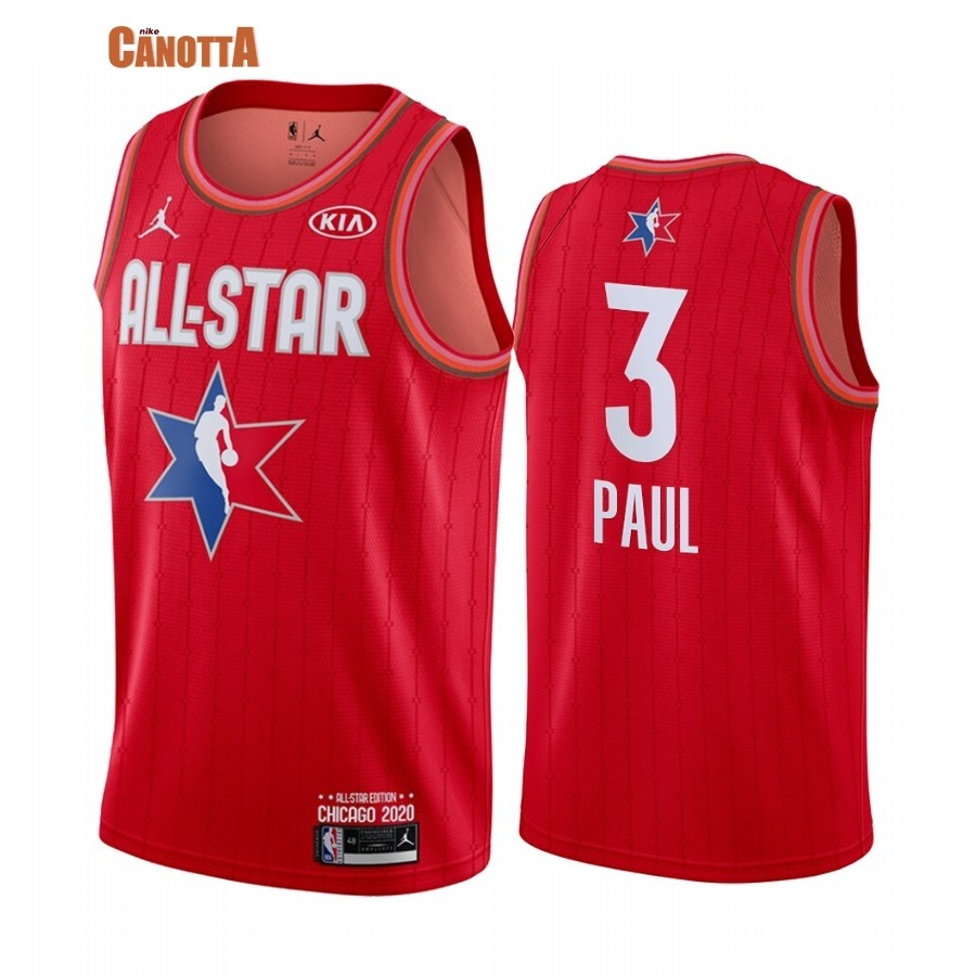 Replica Maglia NBA 2020 All Star NO.3 Chris Paul Rosso