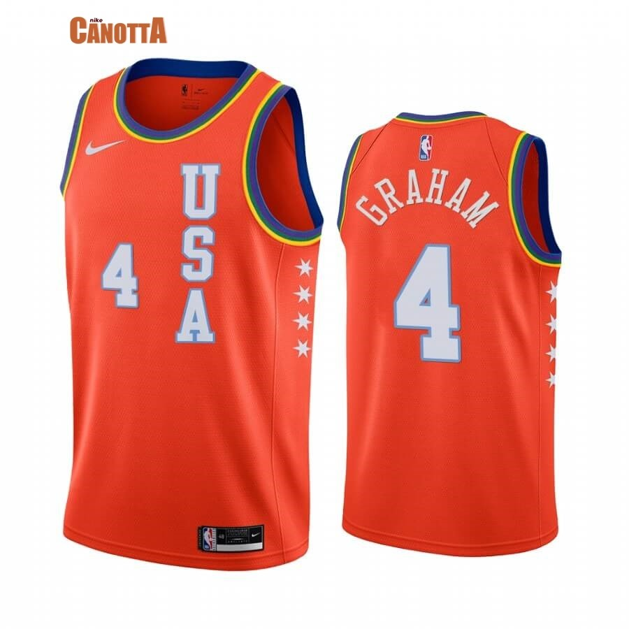 Replica Maglia NBA 2020 Rising Star NO.4 Devonte Graham Arancia
