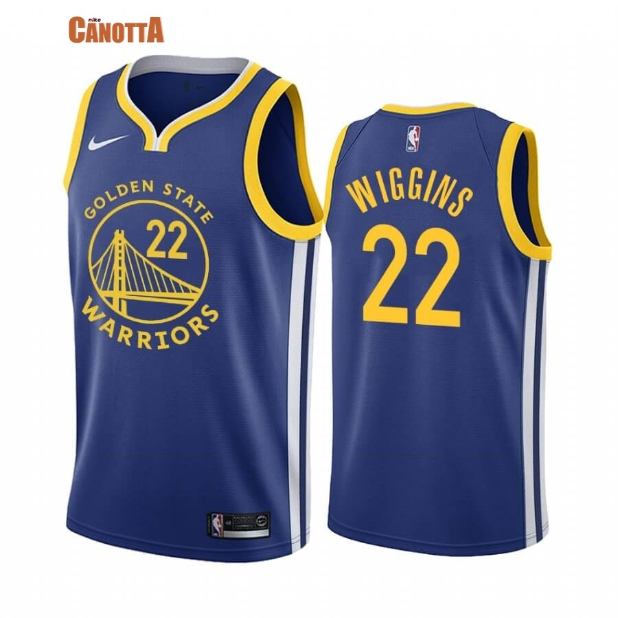 Replica Maglia NBA Nike Miami Heat NO.22 Andrew Wiggins Blu Icon 2019-20