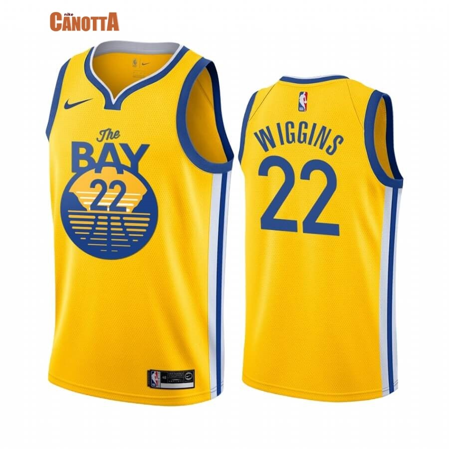 Replica Maglia NBA Nike Miami Heat NO.22 Andrew Wiggins Giallo Statement 2019-20