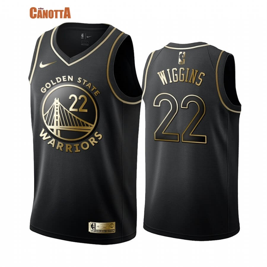 Replica Maglia NBA Nike Miami Heat NO.22 Andrew Wiggins Oro Edition 2019-20