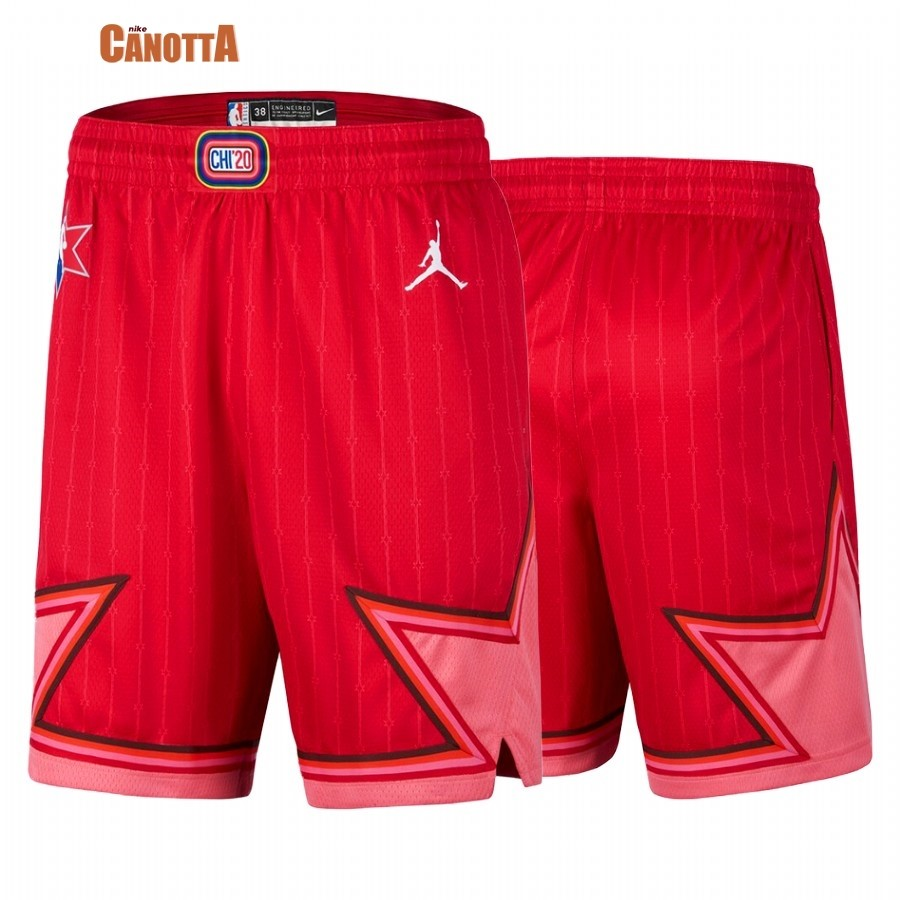 Replica Pantaloni Basket 2020 All Star Rosso