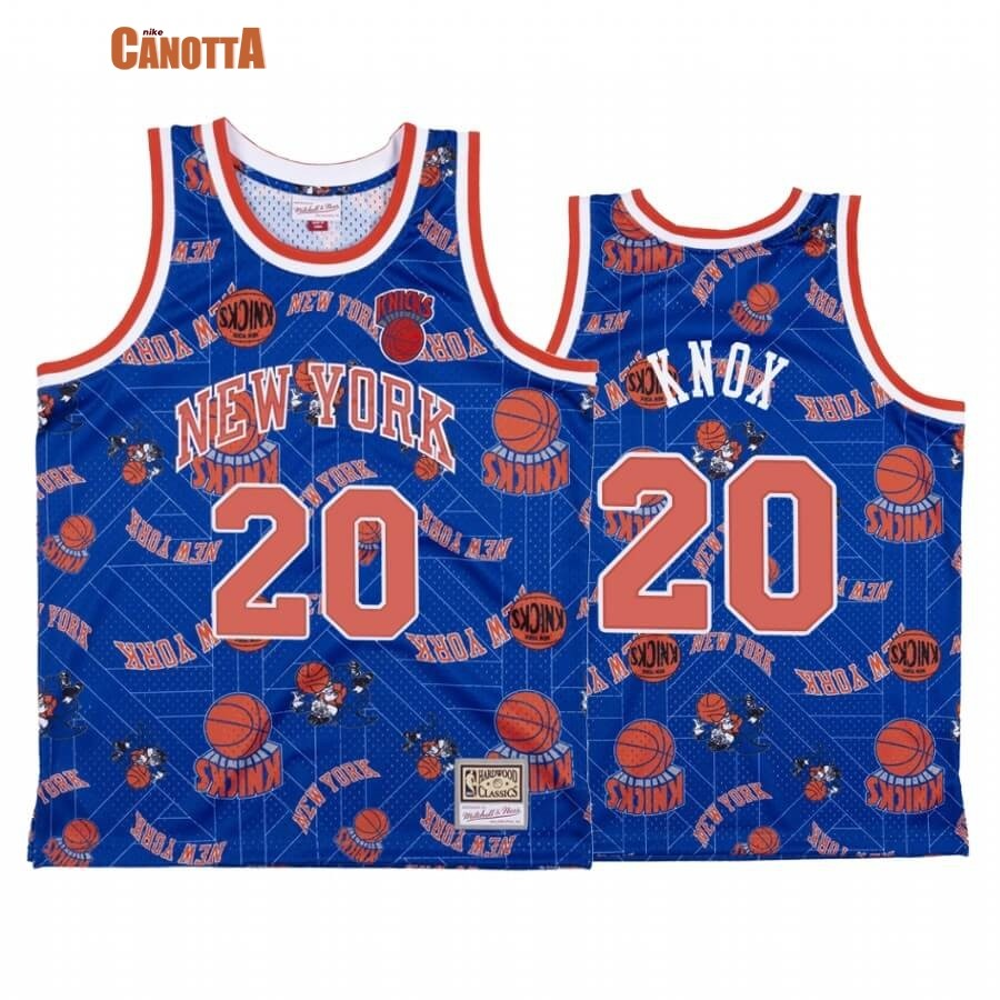 Replica Maglia NBA New York Knicks Tear Up Pack NO.20 Kevin Knox Blu Hardwood Classics