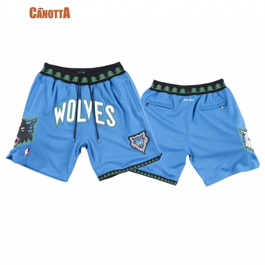 Replica Pantaloni Basket Minnesota Timberwolves Just Don Blu 2003-04-